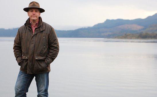 Loch, Highlands, Scottish, Countryside, Isle, Man, Hat