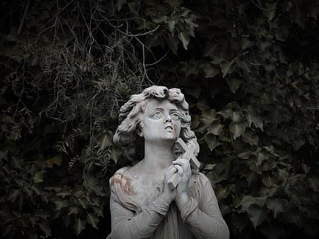 Statue, Sad, Sadness, Melancholy, Pain, Cemetery