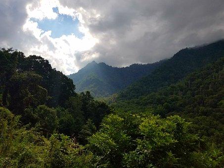Mountain, Ray, Sunlight, Nature, Landscape, Sun, Travel