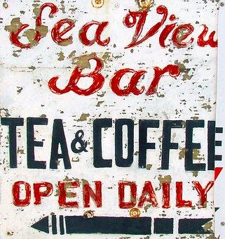 Sign, Cafe, Old Sign, Weathered, Restaurant, Retro