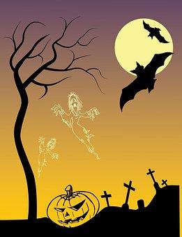 Halloween Poster, Drawing, Scary, Pumpkin, Creepy