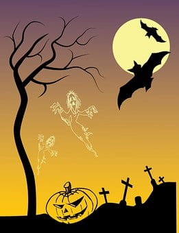 Halloween Poster, Drawing, Scary, Pumpkin, Creepy