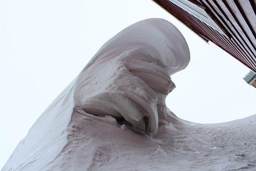 Snow, Snowdrift, Wind, Winter, Arctic, Svalbard, Norway