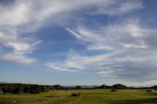 Landscape, Mountains, Upper Bavaria, Abendstimmung