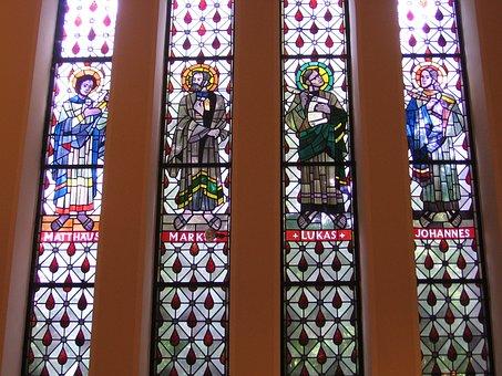 Church, Window, Evangelists, Church Window