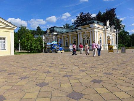 Czech Republic, Františkovy Lázně, The Colonnade, Spa