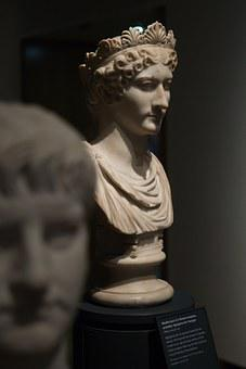 Stone Bust, Agrippina, Oxford, Oxfordshire