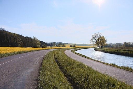 Road, Bicycle Path, The Nivernais Canal