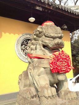 Lion, Foo Dog, Chinese Holiday, Temple, Sculpture