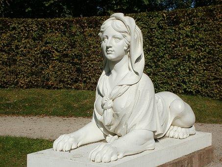 Sculpture, Sphinx, Naturtheater, Schwetzingen, Statue