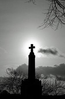 Stone, Monument, Cross, Veterans, Architecture, Heroes
