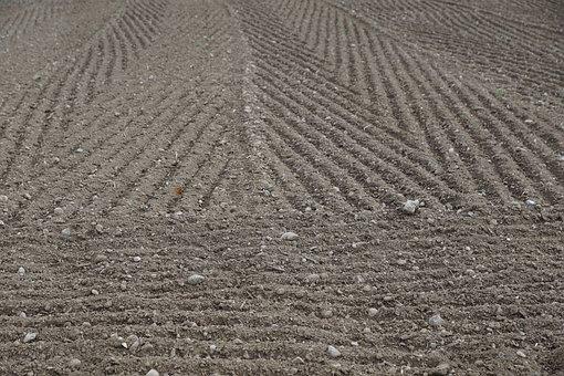 Earth, Arable, Field, Grey, Black, Pattern, Background