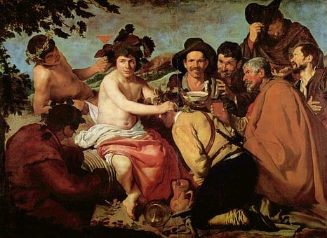 The Triumph Of Bacchus, Painting, Drunkards
