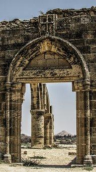Cyprus, Ayios Sozomenos, Church, Gothic, Arch, Village
