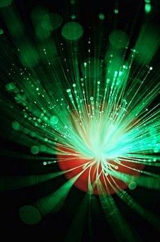 Optical Fibers, Glass Fiber, Fibers, Glow, Light