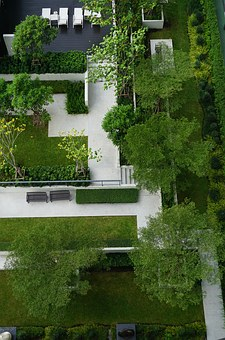 Garden, Design, Top View, Landscape, Green, Vacation