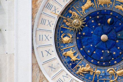 Venice, Venetia, Italy, Piazza San Marco, Clock