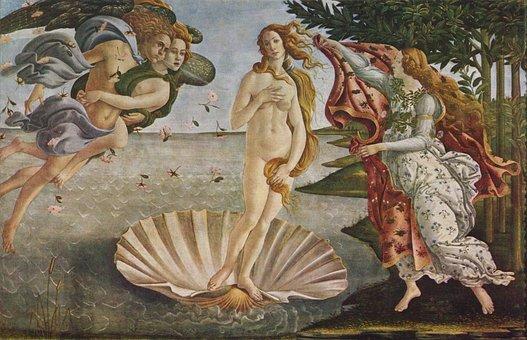 Oil Painting, Venus, Sandro Botticelli