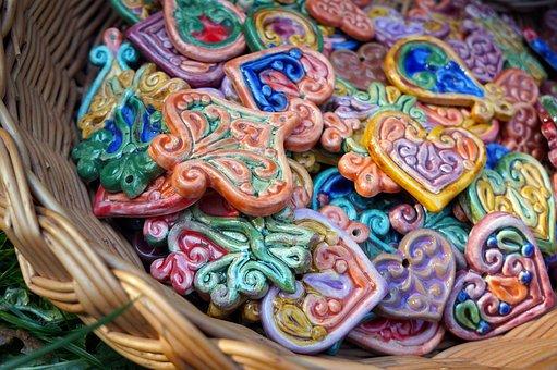 Ceramic, Arts And Crafts, Unloading, Fair