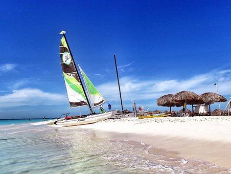 Beach, Water, Ocean, Coast, Sand, Tourism, Catamaran