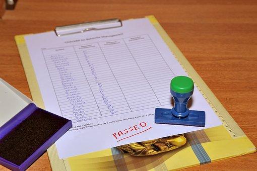 Evaluation, Exam, Passed, List, Achievement, Appraisal