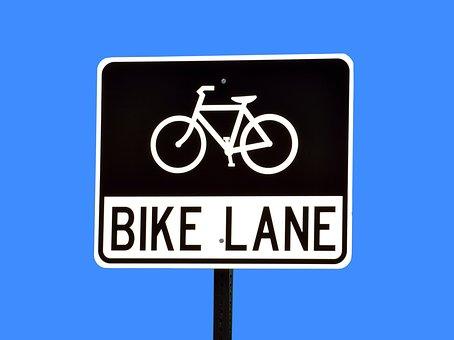 Bike Land, Sign, Signage, Road Sign, Bike, Road