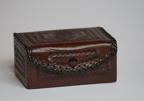 Jewelry Box, Casket, Chest, Leather, Box