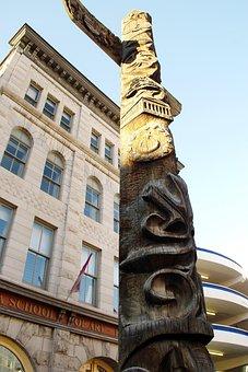 Canada, Ottawa, Totem, Native American, Museum