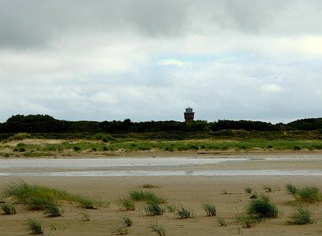 Water Tower, Water Storage, Borkum, Wadden Sea, Coast
