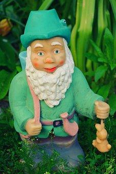 Garden, Gnome, Dwarf, Green, Hunter, Comic, Livid