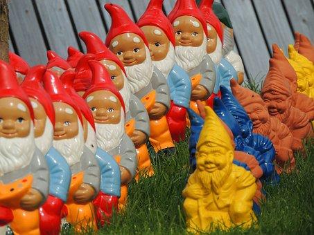 Dwarfs, Imp, Garden Gnome, Fig, Sweet, Funny, Cute