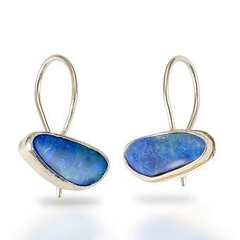 Boulder Opal, Earrings, Jewelry, Fine, Jewellery