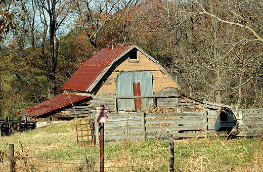 Old Rustic Shed, Barn Shed, Grunge, Rural, Georgia
