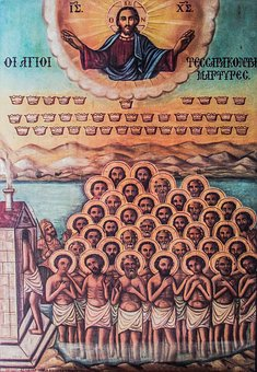 Icon, Saint Forty Martyrs, Cyprus, Paralimni