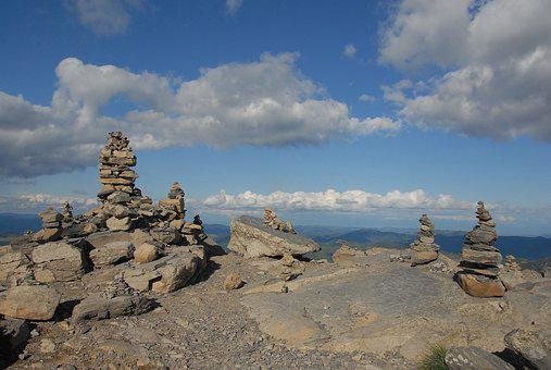 Mountain, Cairn, Beacon, Markup, Guide, Mineral, Roche