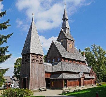 Stave Church, Goslar-hahnenklee, West Side, Resin