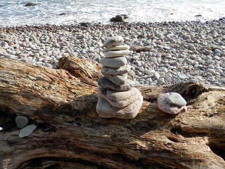 Cairn, Bank, Baltic Sea, Nature, Steinmann, Stone Tower