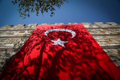 Turkey, Turkish, Flag, National, Symbol, Sign, Icon
