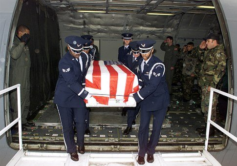 Us Air Force, Casket, Returning, Battle Casualty, Death