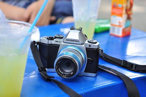 Camera, Olimpus, Vintage, Classic, Old, Film, Work