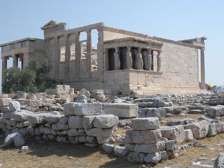 Parthenon, Carytids, Acropolis, Athens, Temple