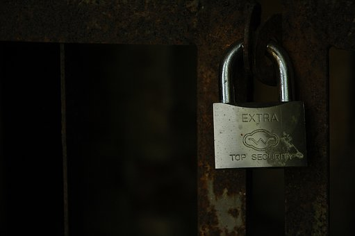 Fence, Padlock, Security