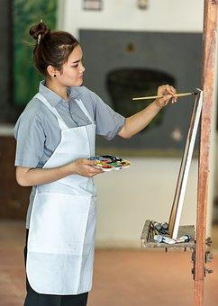 Artist, Art, Art Work, Asia, Brush, Canvas, Unofficial