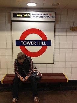 Stranger, London, Train, Station, Underground, England
