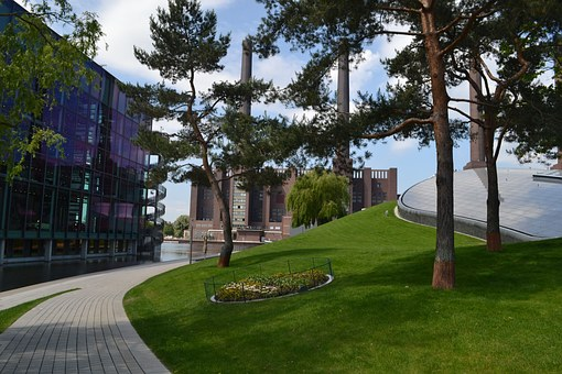 Vw, Volkswagen, Autostadt Wolfsburg, Factory, Landscape