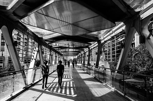 City, Nell, Flyover, Black And White, Light And Shadow