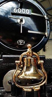 Brass, Train, Bell, Shine, Steam, Engine, Locomotive