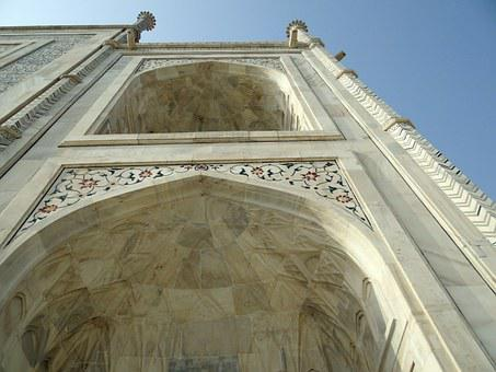 Taj Mahal, Arch, Architecture, Mughal, White, Marble