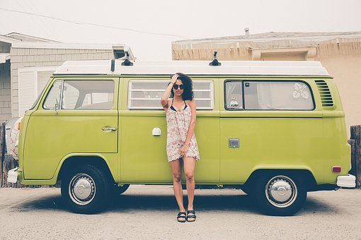 Classic, Female, Model, Person, Vehicle, Volkswagen