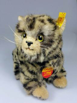 Cat, Teddy Bear, Stuffed Animal, Steiff, Original